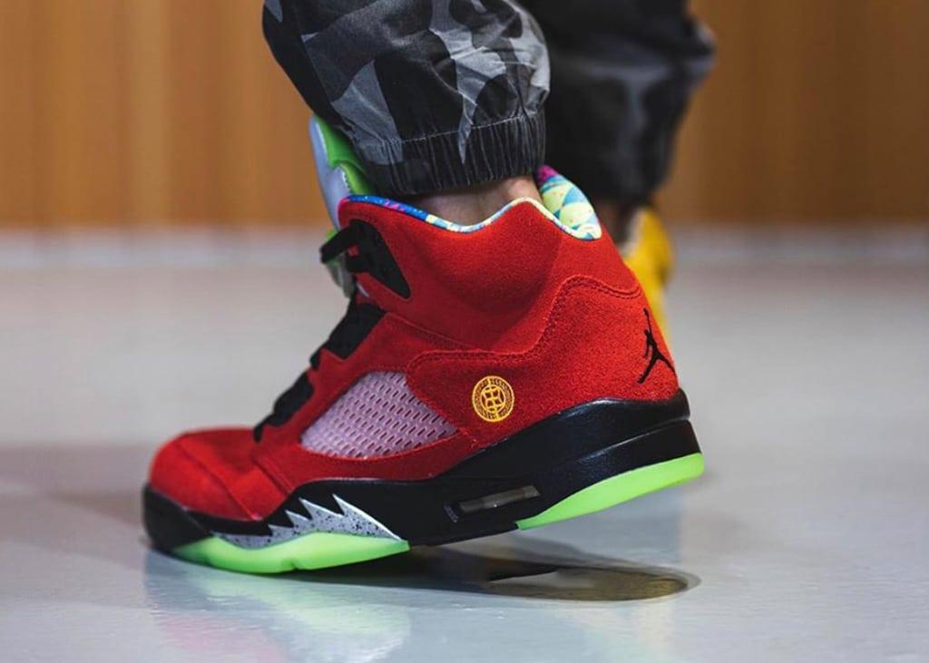 Aan de voet! Foto's van de Air Jordan 5 What The?!