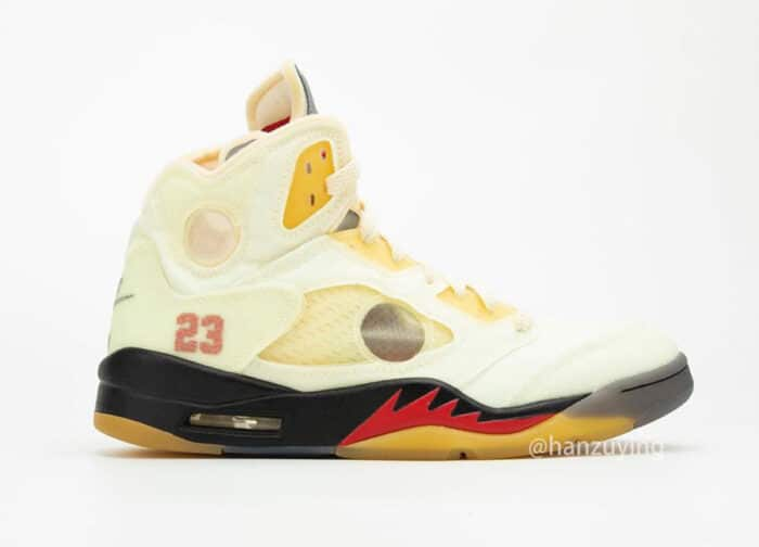 off white Jordan 5