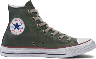 Converse Waxed Canvas Chuck Taylor All Star High Top Green Waxed Winterized 169137C