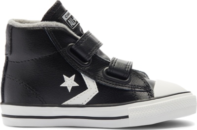 Converse Toddler Varsity Turf Easy-On Star Player Mid Black/Mason/Vintage White 762009C