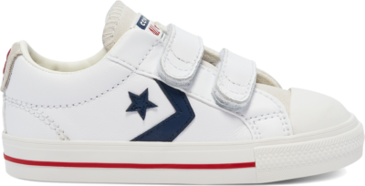 Converse Toddler Easy-On Star Player Low Top White/Midnight Navy/Gym Red 769707C
