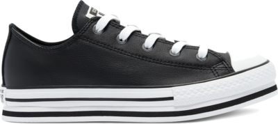 Converse Leather EVA Platform Chuck Taylor All Star Low Top voor kids Black 669710C