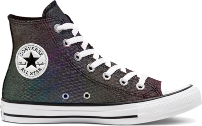 Converse Womens Industrial Glam Chuck Taylor All Star High Top Silver/ Black 568585C