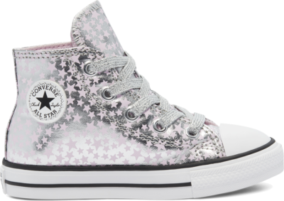 Converse Toddler She's A Star Chuck Taylor All Star High Top Silver/Pink Glaze/White 769248C