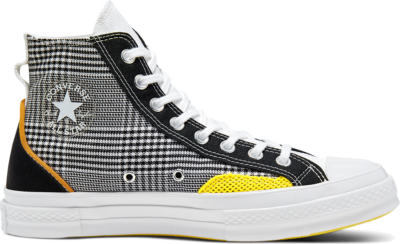 Converse Hacked Fashion Chuck 70 High Top Black/White/Speed Yellow 168696C