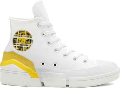 Converse Womens Mix and Match CPX70 High Top White/Speed Yellow/Black 568648C