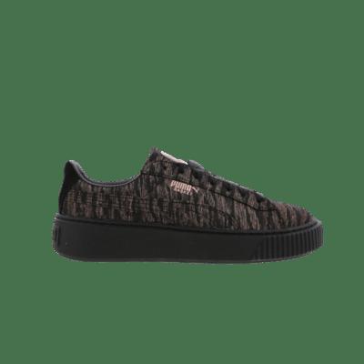 Puma Basket Platform Velvet Rope Black 364092 02