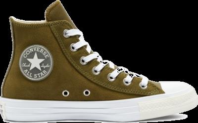 Converse Womens +1 Detail Chuck Taylor All Star High Top Dark Moss/White/Egret 569766C