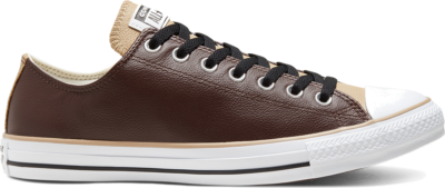 Converse Unisex Seasonal Color Leather Chuck Taylor All Star Low Top Dark Root/Nomad Khaki/White 168541C