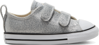 Converse Toddler Coated Glitter Easy-On Chuck Taylor All Star Low Top Silver 768470C