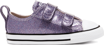 Converse Toddler Coated Glitter Easy-On Chuck Taylor All Star Low Top Moody Purple/White/Black 768469C
