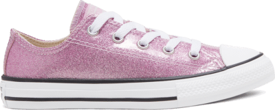 Converse Big Kids Coated Glitter Chuck Taylor All Star Low Top Pink Glaze/White/Black 668467C