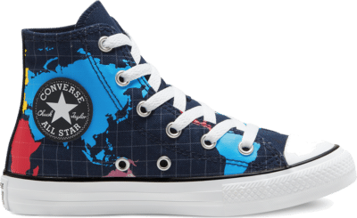 Converse Big Kids Geography Class Chuck Taylor All Star High Top Obsidian/Sail Blue 668455C