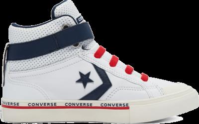 Converse Big Kids Pro Blaze Strap High Top White/Obsidian/University Red 669253C