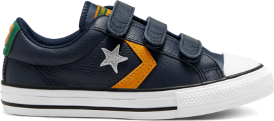 Converse Big Kids Leather Twist Easy-On Star Player Low Top Obsidian/Midnight Clover 668427C