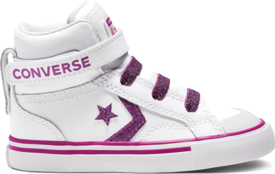 Converse Toddler Coated Glitter Pro Blaze Strap High Top White/Cactus Flower 768477C