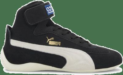Puma SpeedCat Sparco Mid sportschoenen Zwart / Wit / Goud 306609_01