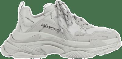 Balenciaga Triple S Allover Logo Gray 536737W2FA11210