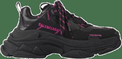Balenciaga Triple S Allover Logo Black Pink (W) 524039W2FA11050