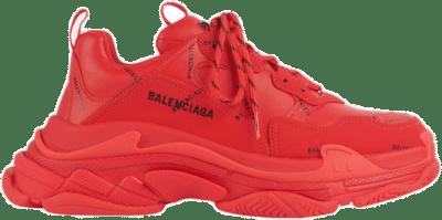Balenciaga Triple S Allover Logo Red 536737W2FA16010