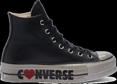 Converse Wordmark Platform Chuck Taylor All Star High Top Black Wordmarks 569117C