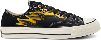 Converse Unisex Hacked Archive Chuck 70 Low Top Black/Speed Yellow/Egret 168701C