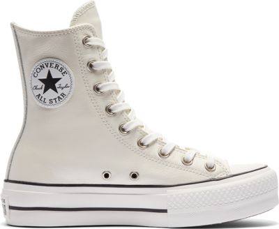 Converse Extra High Platform Chuck Taylor All Star High Top Egret/White/Black 569720C