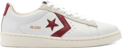 Converse Unisex Pro Leather Low Top White/Team Red/Egret 169716C