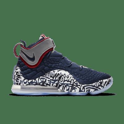 "Nike LeBron 17 Graffiti ""Cold Blue"" CT6047-400"