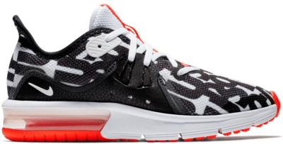 Nike Air Max Sequent 3 Just Do It White Black Crimson (GS) AQ9955-100