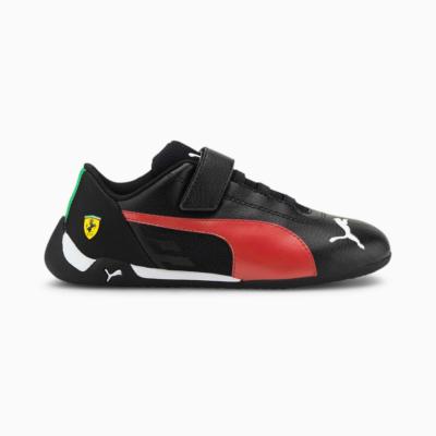 PUMA Scuderia Ferrari Race R-Cat Kids' Motorsport , Red Black,Rosso Corsa 306547_02