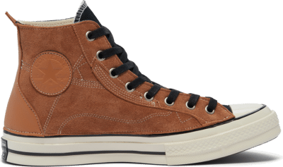 Converse Unisex Leather Patchwork Chuck 70 High Top Ecru Leather Patchwork 169140C