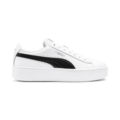 Puma Vikky Stacked sneakers voor Dames Wit / Zwart 369143_07