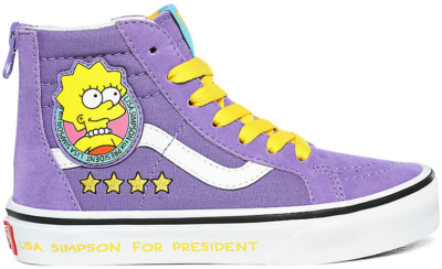 Vans Sk8-hi Zip The Simpsons Lisa 4 Prez Purple VN0A4BUX17G