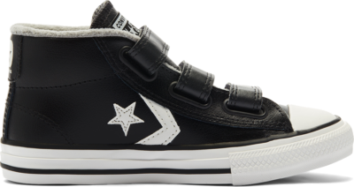 Converse Grote kids Varsity Turf Easy-On Star Player Mid Black/Mason/Vintage White 661925C