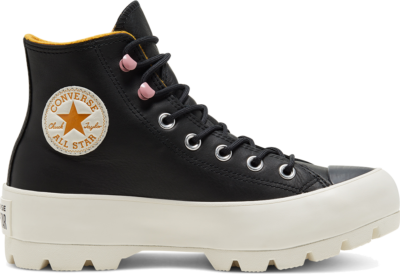 Converse Chuck Taylor All Star Lugged Winter High Top Black/Saffron Yellow/Egret 568763C