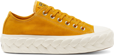 Converse Womens Runway Cable Platform Chuck Taylor All Star Low Top Saffron Yellow/Saffron Yellow 568684C