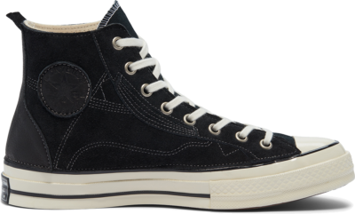 Converse Unisex Leather Patchwork Chuck 70 High Top Black Leather Patchwork 169141C