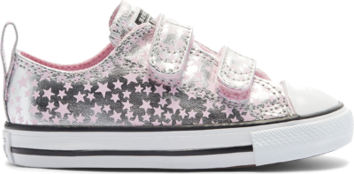 Converse Toddler She's A Star Easy-On Chuck Taylor All Star Low Top Pink Glaze/Silver/White 769706C