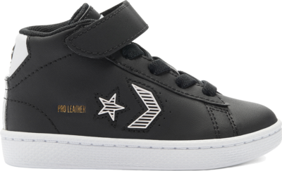Converse Toddler Rivals Pro Leather Mid Black 768401C