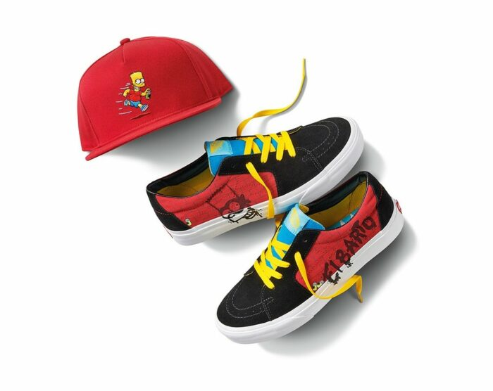 vans hat and shoes bart simpsons