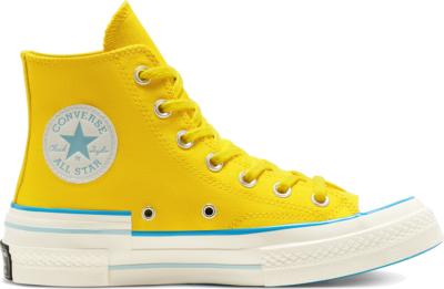Converse Felgekleurde Chuck 70 High Top voor dames Speed Yellow/Sail Blue/Egret 568801C