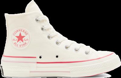 Converse Felgekleurde Chuck 70 High Top voor dames Egret/Carmine Pink/Lotus Pink 568800C