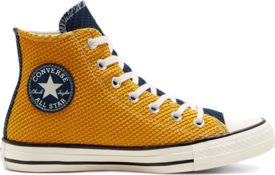 Converse Womens Runway Cable Chuck Taylor All Star High Top Dark Moss/Saffron Yellow 568665C