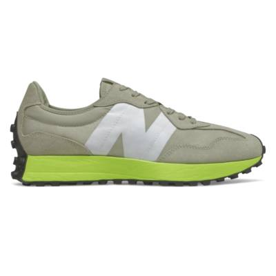 Herren New Balance 327 Grey Oak/Lemon Slush