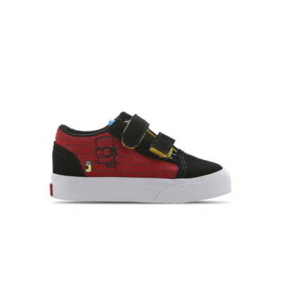Vans Old Skool The Simpsons El Barto Velcro Red VN0A38JN17A