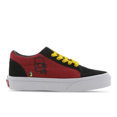 Vans Old Skool The Simpsons El Barto Velcro Red VN0A4BUU17A