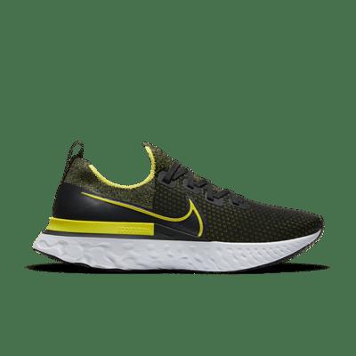 Nike React Infinity Run Flyknit Black Sonic Yellow CD4371-013