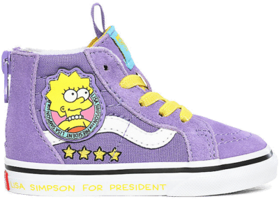 Vans Sk8-hi Zip The Simpsons Lisa 4 Prez Purple VN0A4BV117G
