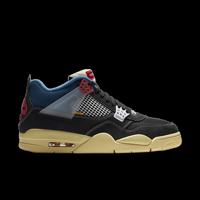 Air Jordan 4 x UNION LA 'Off Noir' Off Noir/Brigade Blue/Dark Smoke Grey/Light Fusion Red DC9533-001